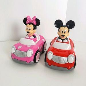 Disney Minnie  Mickey Mouse Push and Go Racer Cars